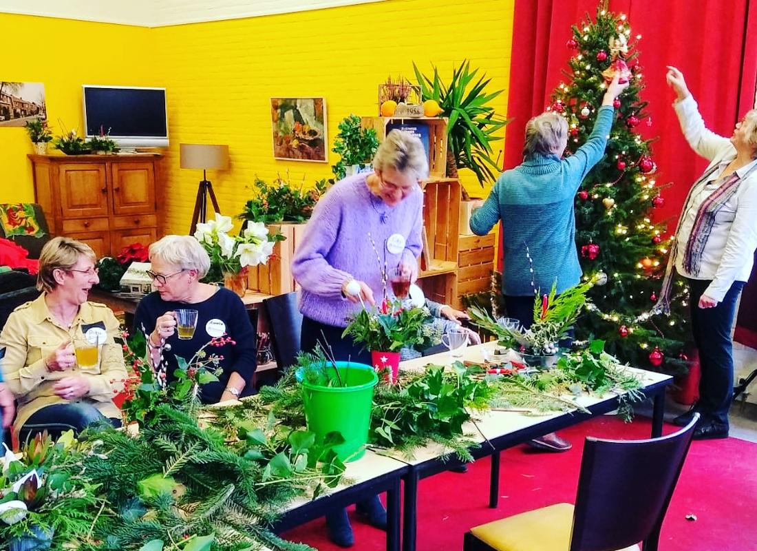 Odensehuis in kerstsfeer